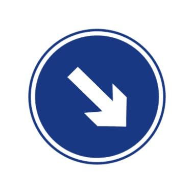 靠右侧道路行驶标志图片