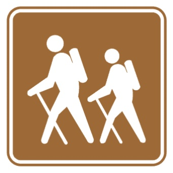 徒步标志图片