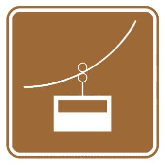 索道标志图片