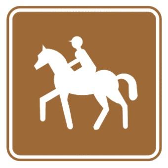 骑马标志图片