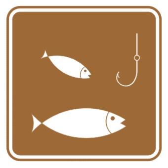 钓鱼标志图片