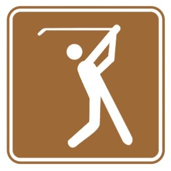 高尔夫球标志图片