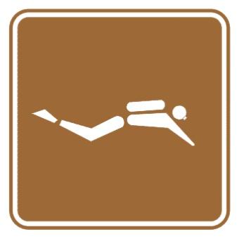 潜水标志图片