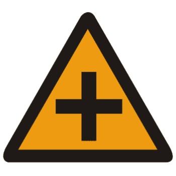 十字交叉标志图片