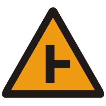 T形交叉标志图片