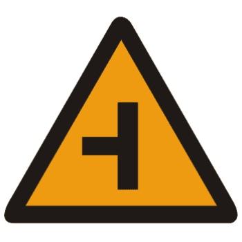 左侧T形交叉标志图片