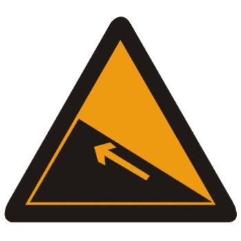 上陡坡标志图片