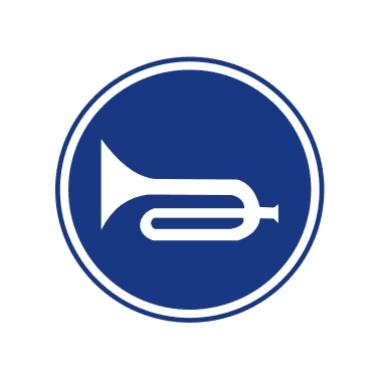 鸣喇叭标志图片