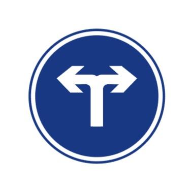 向左和向右转弯标志图片